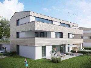 immocontec-Bauprojekt: Große Außenansicht der Alten Weberei in Oberviechtach