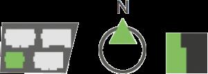 Grüne Navigations Icons für das Haus 1 in den Regentalgärten in Nittenau