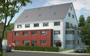 immocontec-Referenz: Außenansicht des VIO2 in der Bruderwöhrdstraße in Regensburg
