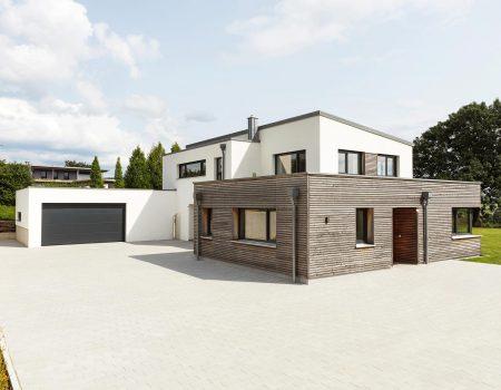 immocontec-Referenz: Neubau eines Einfamilienhauses mit Büro in Schönsee