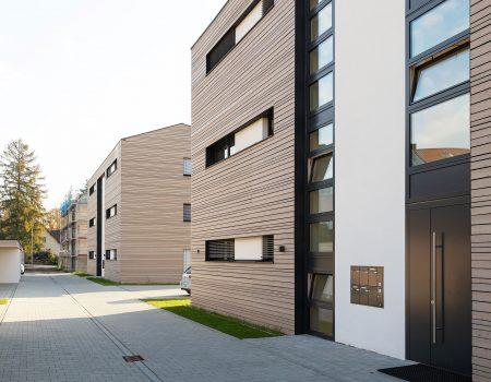 immocontec-Bauprojekt: Bauphase der Häuser an der Alten Weberei in Oberviechtach