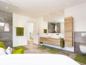 immocontec-Referenz: Badezimmer eines modernen Einfamilienhauses in Regensburg