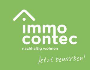 Logo der immocontec GmbH mit dem Zusatz: Jetzt bewerben