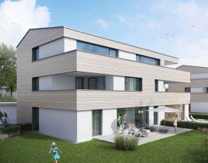 immocontec-Bauprojekt: Außenansicht der Alten Weberei in Oberviechtach