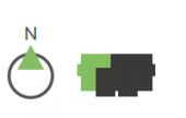 Grüne Navigations Icons für das Haus 4 in den Regentalgärten in Nittenau