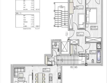 NaabTerrassen - Grundriss Wohnung 1