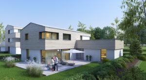 immocontec-Referenz: Außenansicht Leben an der Alten Weberei - Einfamilienhaus